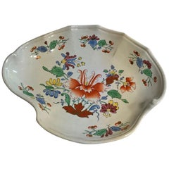 Richard Ginori Mid-18th Century Porcelain Hand Painted with Tulip Decor Bowl