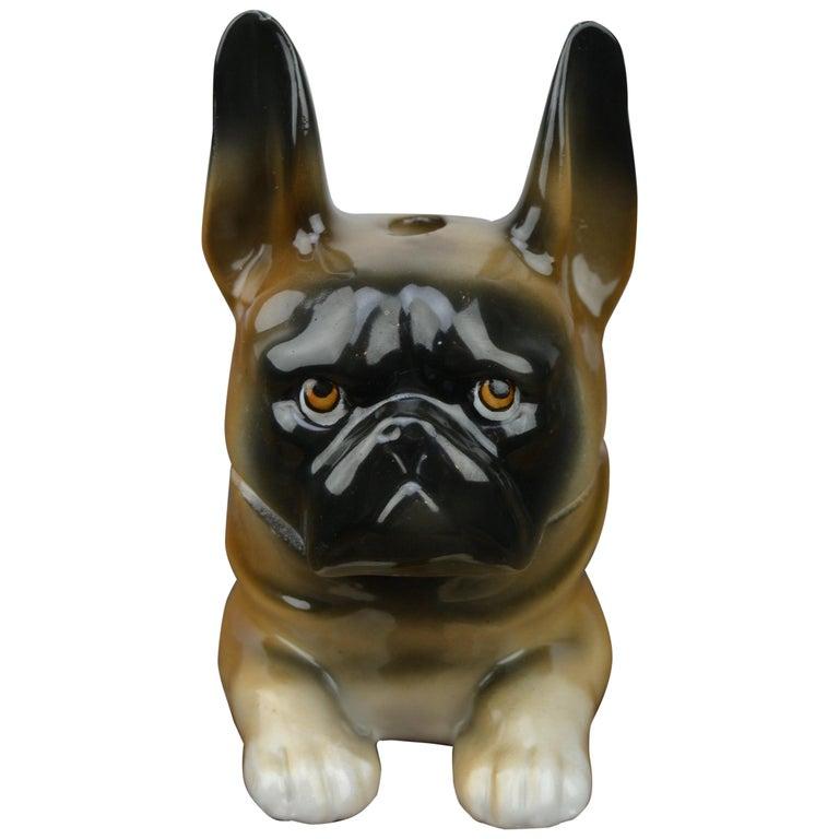 Art Deco Porcelain Bulldog Inkwell, Germany For Sale