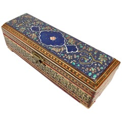 Micro Mosaic Indo Persian Inlaid Jewelry Trinket Box