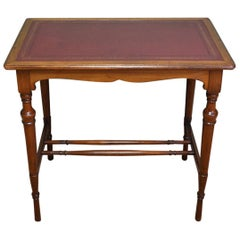 Quality Victorian Arts & Crafts Walnut Antique Side or Writing Table