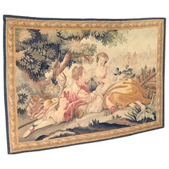 19th Century Aubusson Pastoral Tapestry