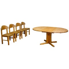 Set of 4 Chairs and Table by Rainer Daumiller for Hirtshal Sawmill, Denmark 1970