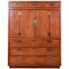 Henredon Campaign Style Oak Gentleman's Chest