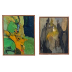 Selection of Abstract Paintings, circa 1960s