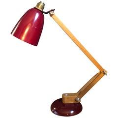Vintage Midcentury Maclamp by Terence Conran Desk Lamp in Pastel Green