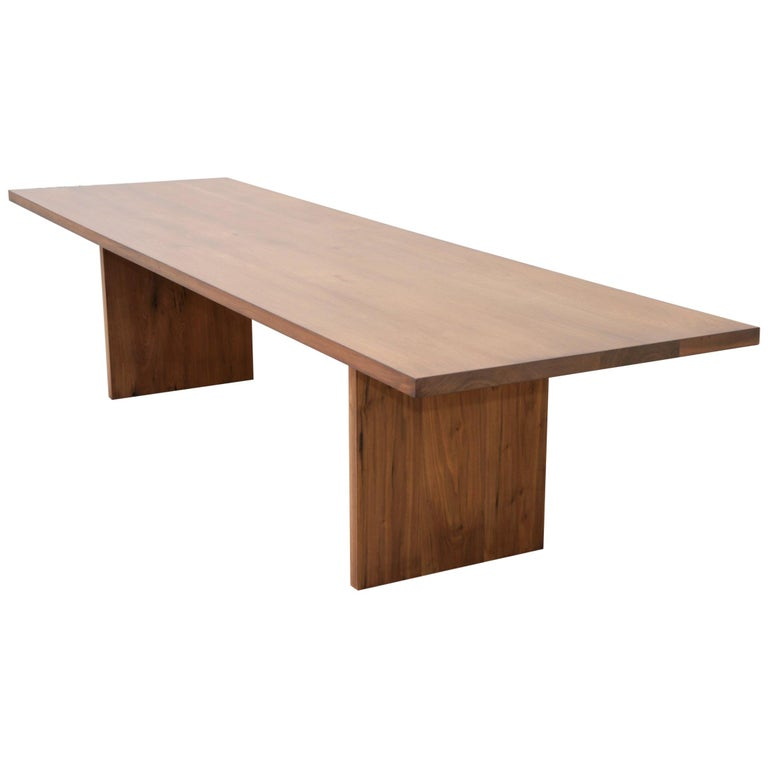 Custom Walnut Dining Table For Sale