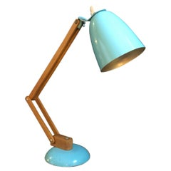 Vintage Midcentury Maclamp by Terence Conran Desk Lamp in Turquoise