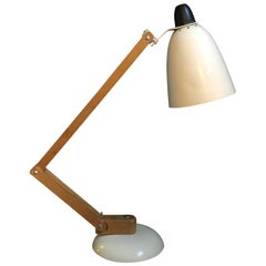 Vintage Midcentury Maclamp by Terence Conran Desk Lamp in White