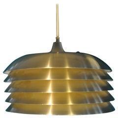 """Brass Ceiling Lamp """"T742"""", Hans-Agne Jakobsson, 1960"""