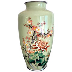 Japanese Cloisonne Vase by Ando Jubei Meiji Period