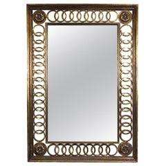 La-Barge Scroll Wood Gold Leaf Wall Mirror
