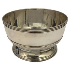 Georgian Silver Bowl Made by Peter and William Bateman, England, 1810