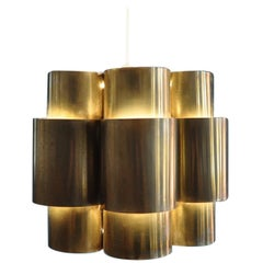 Brass Ceiling Lamp by Hans-Agne Jakobsson, 1950