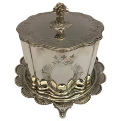 Beautifully Styled Silver Plate Biscuit or Cookie Box, 1900