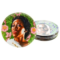 Plate Set with Portraits by Kehinde Wiley