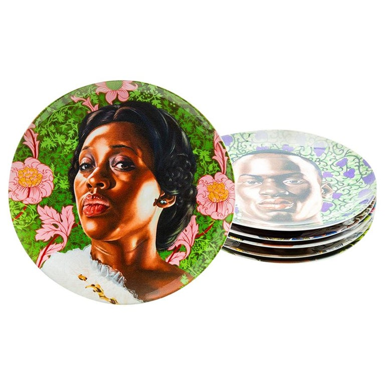 Plate Set with Portraits by Kehinde Wiley For Sale