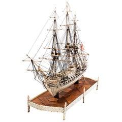 French Prisoner of War Ship Model, Le Héros