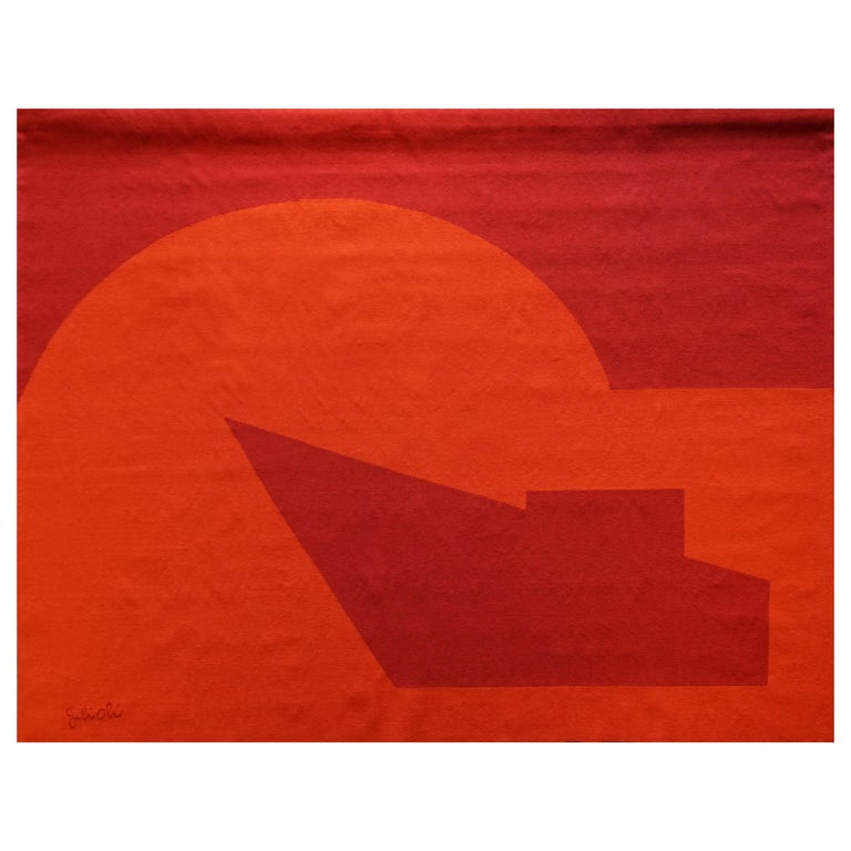 Handwoven Modern Tapestry by Émile Gilioli, Vers le Jour For Sale