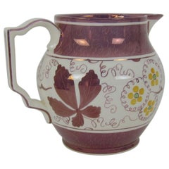 Gray's Pottery Stoke-on-Trent Hand Painted Lusterware Pitcher