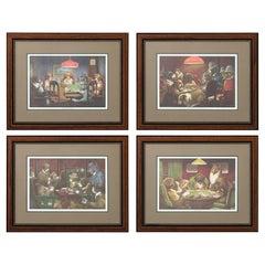 Set of Framed Dog Prints by C.M. Coolidge
