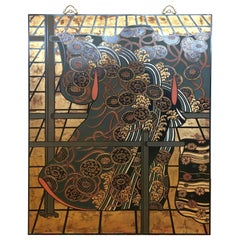 Maitland Smith Hand Made Wall Painting Screen Art Mid-Century Modern