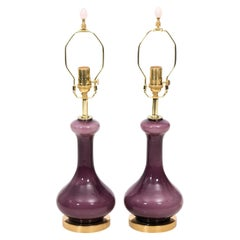 Pair of Midcentury Murano Glass Lamps