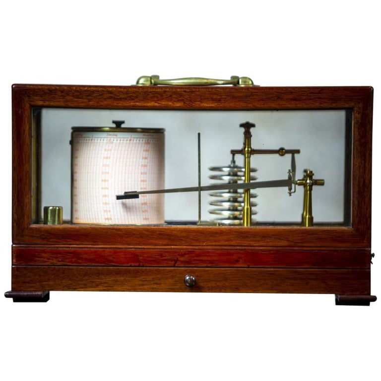 Barograph from the Turn of the 19th and 20th Centuries For Sale