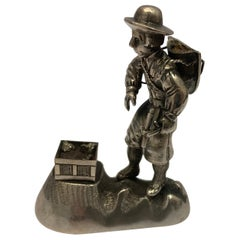 Small Antique Silver Model of a Prospector
