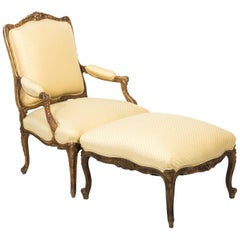 19th Century Giltwood Chaise Lounge Chair