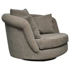 Milo Baughman Large Scale Swivel Chair