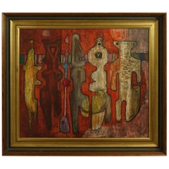 Modernist Abstract Painting, American, circa 1970s
