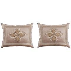 Pair of B. Viz Design Antique Textile Pillows