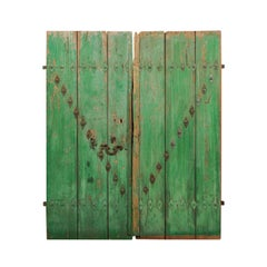 Spanish Early 19th Century Pair of Wooden Doors