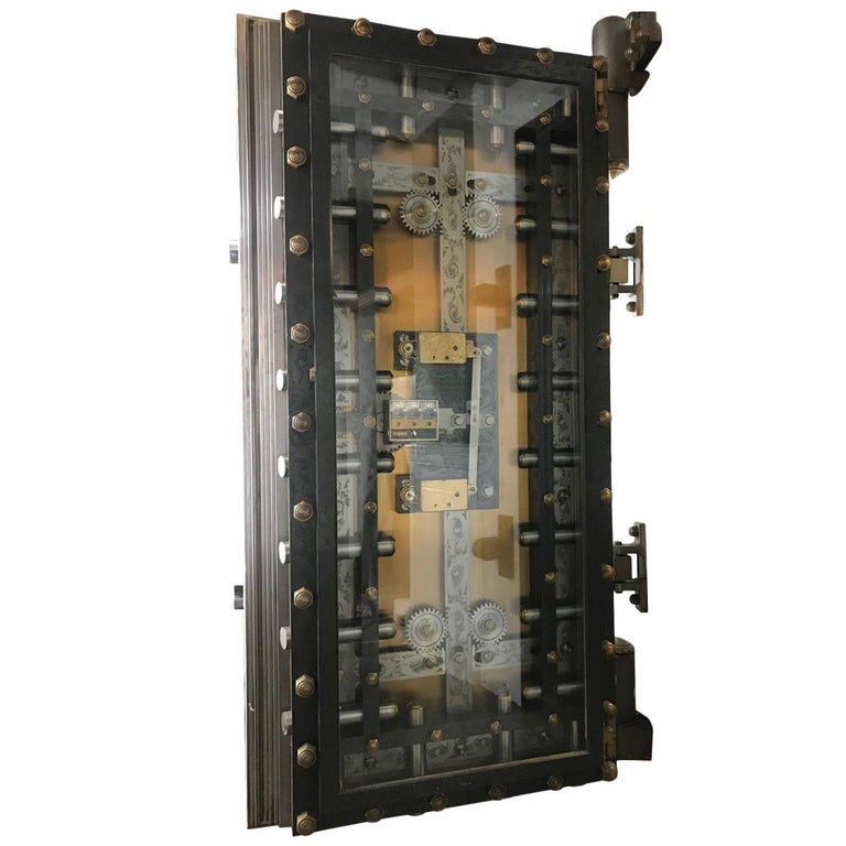 1895 York Vault Door Engineered by Benjamin Tripp of Boston For Sale
