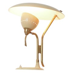 Italian Midcentury Brass Table Lamp by Lumen, 1950s