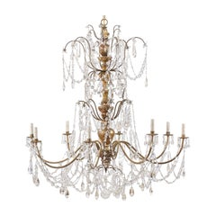 Superb Italian Crystal Chandelier from the Early 20th Century