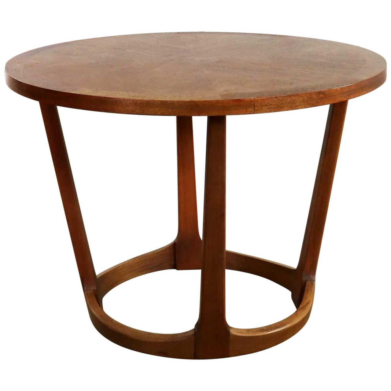 Mid Century Modern Lane Round Drum End Table 997 22 From The Rhythm  Collection