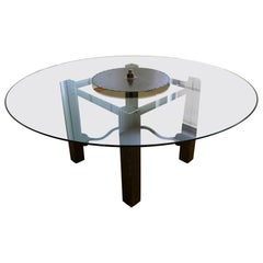 Fantastic Large Round Industrial Modern Dining Table Conference Table