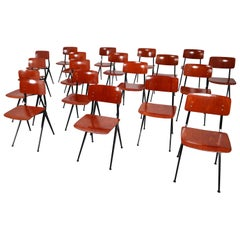 20 Midcentury Prouvé Inspired Industrial Chairs Attributed to Friso Kramer