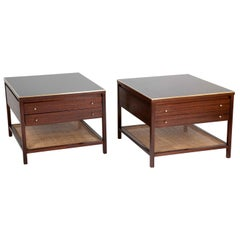 Pair of Walnut Paul McCobb Side Tables