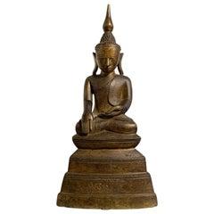 Burmese Shan Tai Yai Bronze Seated Buddha, Early 20th Century