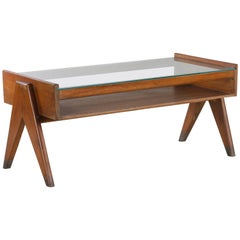 Pierre Jeanneret, Rare Chandigarh Glass Table, PJ-TB-05-A