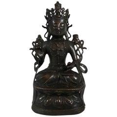 Chinese Bronze Guanyin, circa 1600, Ming Dynasty