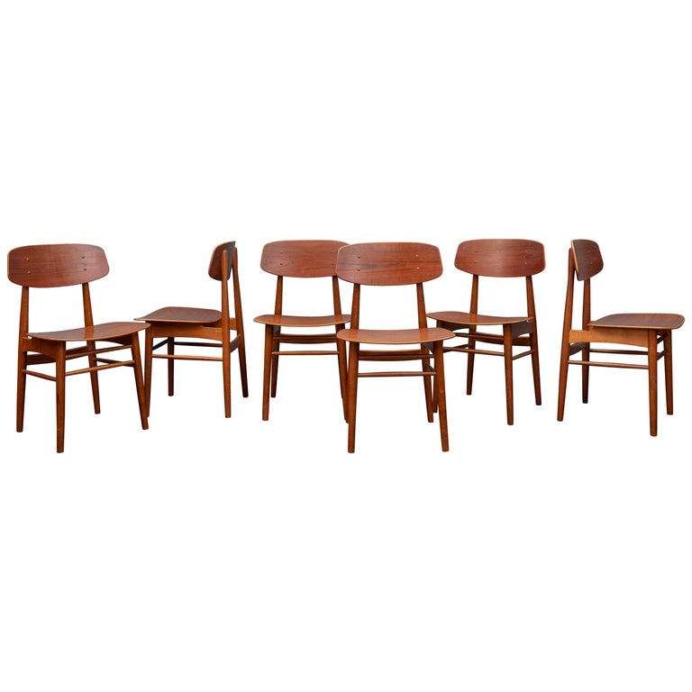 Danish Modern Dining Chairs For Sale