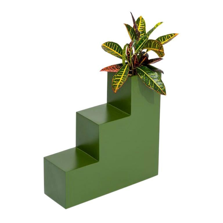 Steps Planter by Pieces, Green Fiberglass Planters For Sale