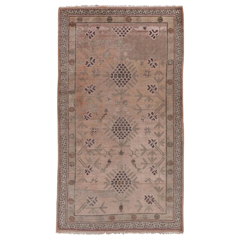 Khotan Rug Geometric Soft Tones For Sale At 1stdibs