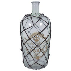Vintage Style Leather Wrapped Decorative Bottle Wine Jug