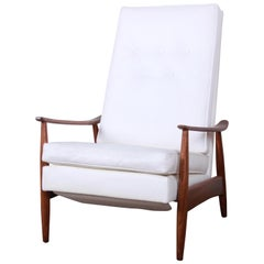 Milo Baughman for James Inc. Reclining Lounge Chair, Newly Refinished