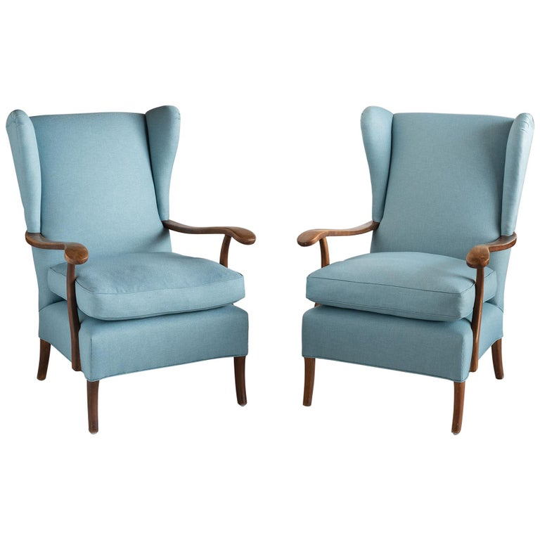 Pair of Paolo Buffa Armchairs, Italy, circa 1950 For Sale