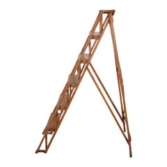 Vintage French Step Ladder in Beechwood